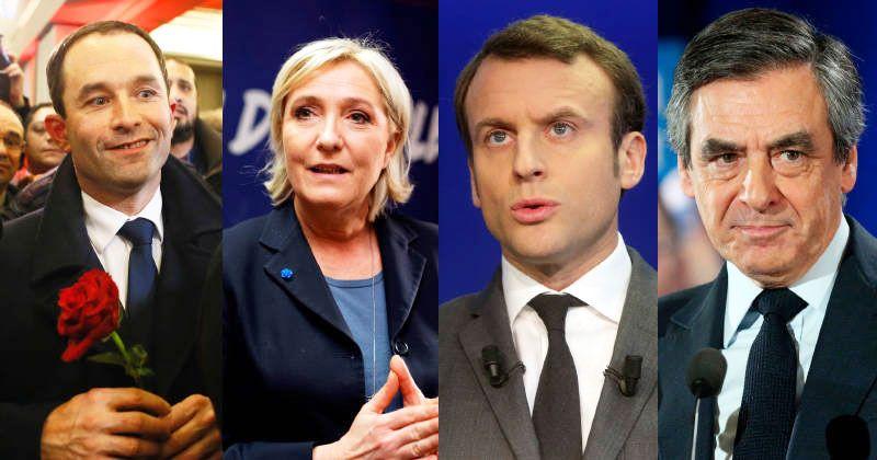Sondeos dan empate entre cuatro candidatos a presidencia de Francia