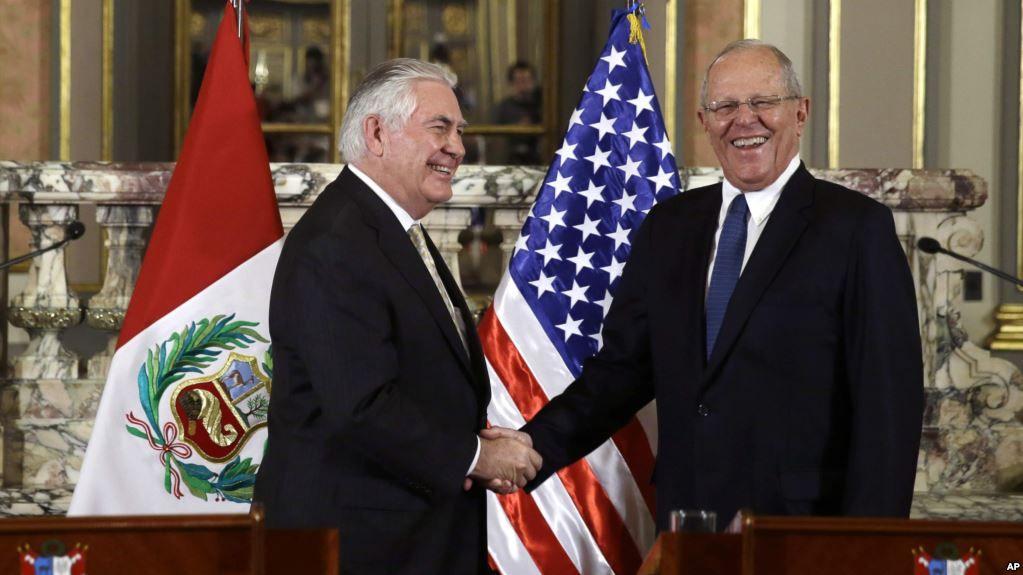EEUU y aliados latinoamericanos unidos contra Maduro — Gira de Tillerson