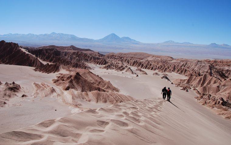 Mismo galardón que se llevó el Desierto de Atacama como el destino más romántico de América del Sur.