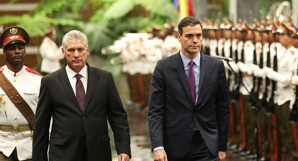 Gobierno español destaca visita de presidente Sánchez a Cuba