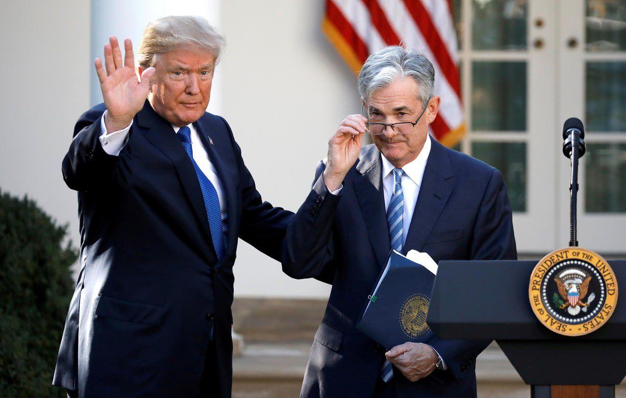 """Trump culpó al jefe del banco central estadounidense Jerome Powell de desperdiciar """"una oportunidad única en la vida"""""""