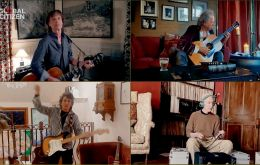 "Los Rolling Stones, por su parte, ofreció una versión de ""You can´t always get what you want"", que inició Mick Jagger con una guitarra acústica y a las que se fueron sumando de a uno Keith Richards, R"